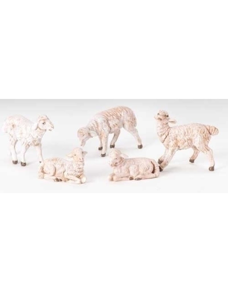"5"" SCALE 5 PC SET WHITE SHEEP"
