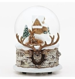 """5.5""""H MUSICAL FAMILY DEER DOME"""