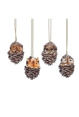 "3.5""ANIMALS IN PINECONE ORN 4 AST"