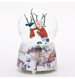 "5""H MUSICAL KID W/SNOWMAN DOME"