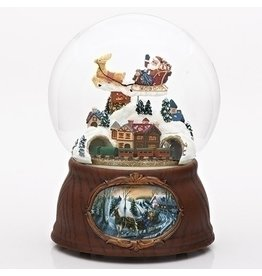 "7""H MUSICAL SANTA/TRAIN DOME"