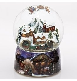 "8""H MUSICAL SANTA TRAIN DOME"