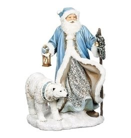 "16"" LED SANTA /POLAR BEAR FIGURE"