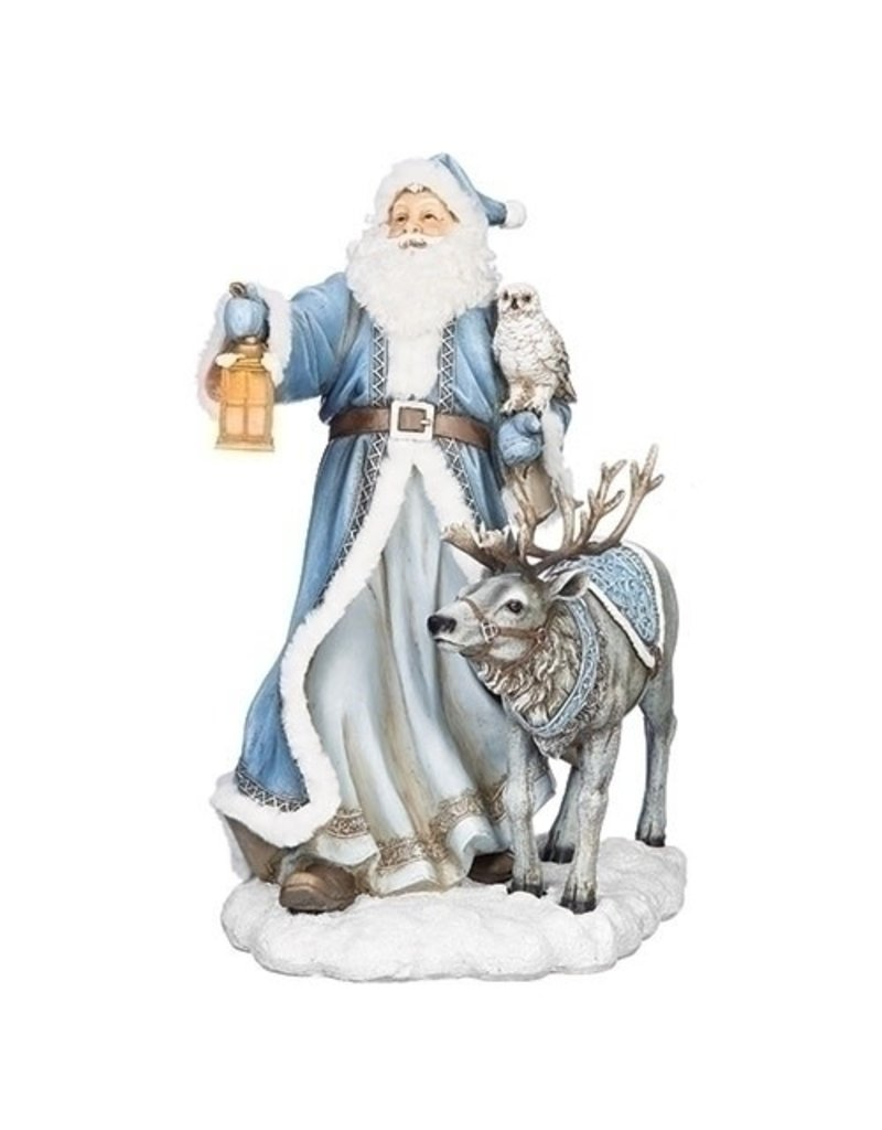 "19.75"" LED SANTA REINDEER FIGURE"