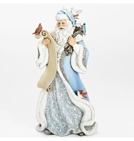 "14"" SANTA W/FEATHER FRIENDS FIGURE"