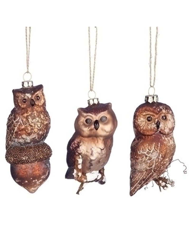 "4.65"" Bronze Owls Orn"