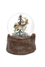 "Musical 5.5"" Deer w/ Cardinals 100mm Dome"