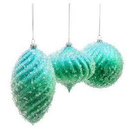 """6"""" Blue/Green w/ Ice Shapes Orn"""