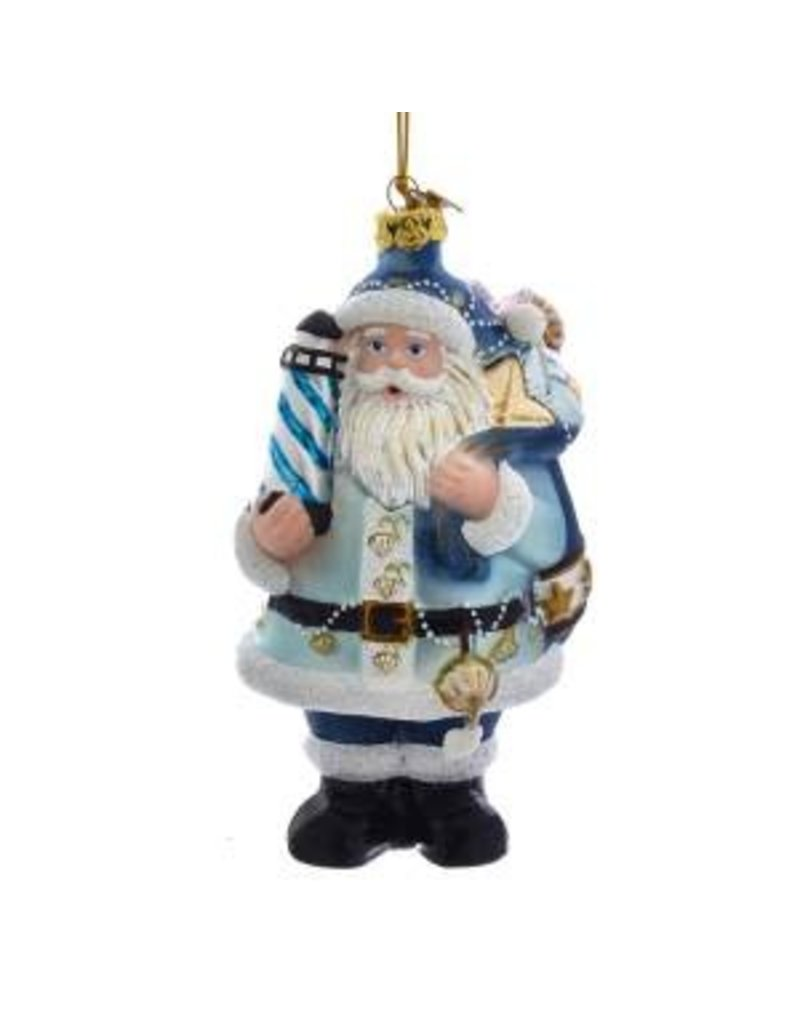 "5"" Noble Gems Nautical Santa Orn"