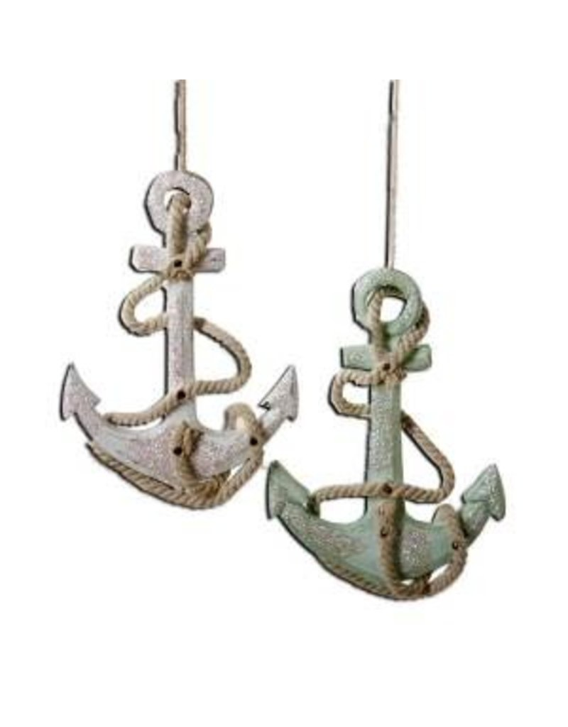 "4.75"" Wooden Anchor Orn"