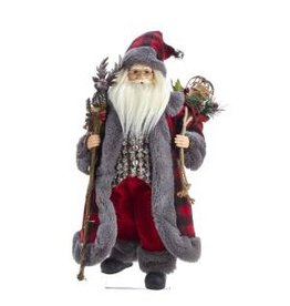 "18"" Kringle Klaus Red/Gray Santa"