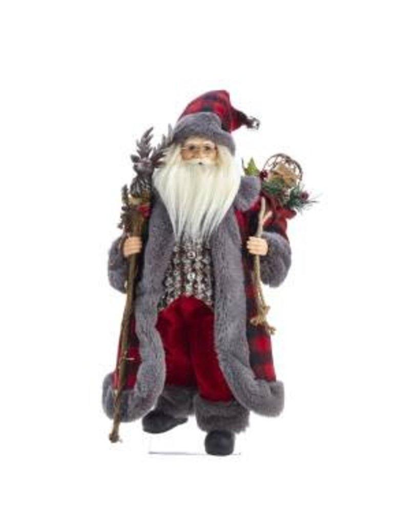 "18"" Kringle Klaus Red/Gray Santa"
