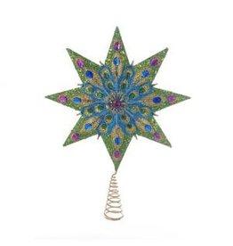 8pt Peacock Treetop w/ Gems