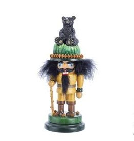 "12"" Hiker w/ Black Bear Nutcracker"