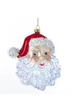 "5"" Glass Santa Head Orn"
