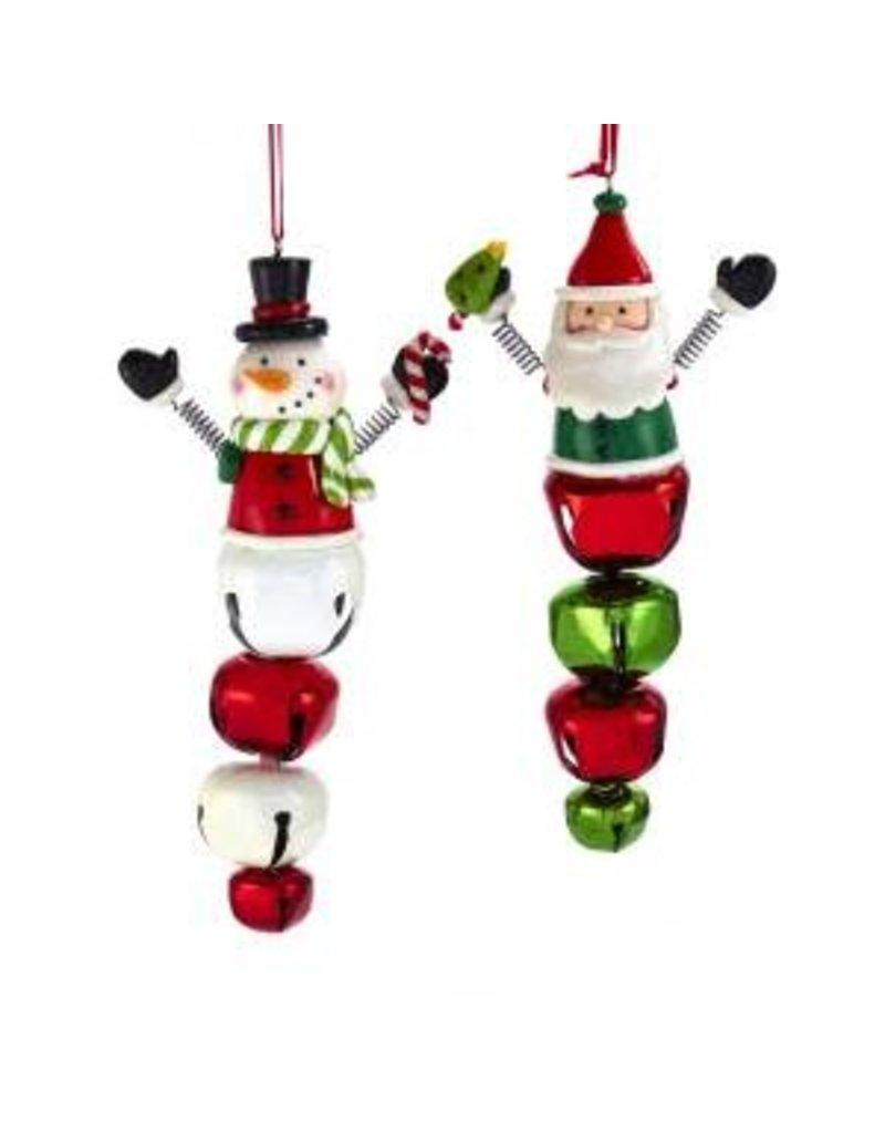 """6.25"""" Santa/Snowman w/ Bell Orn"""