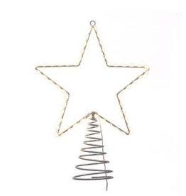 "13"" Metal Lighted LED Star Treetop"