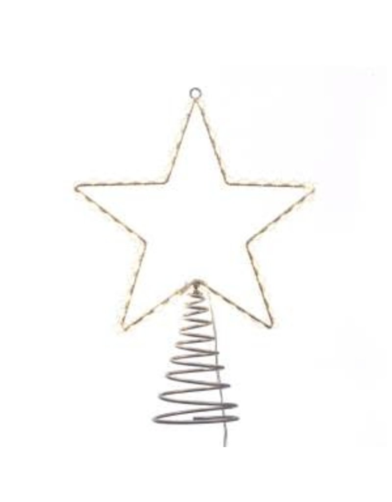 "13"" Metal Lighted LED Star Treetop"