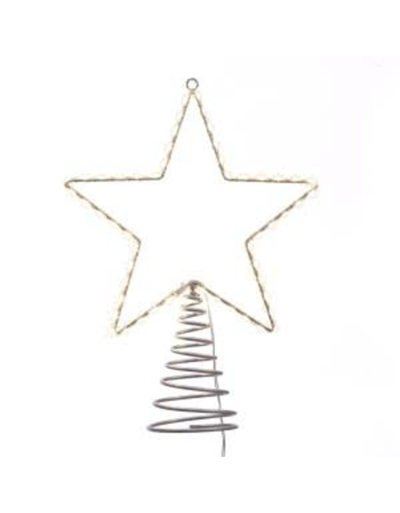 "17.5"" Metal Lighted LED Star Treetop"