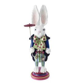"18"" White Rabbit Nutcracker"