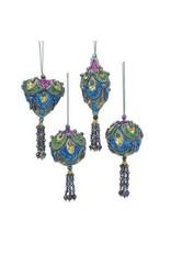 """2-4"""" Mini Peacock Hanging Orn"""
