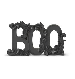 9.75 inch matte black resin BOO Tabletop
