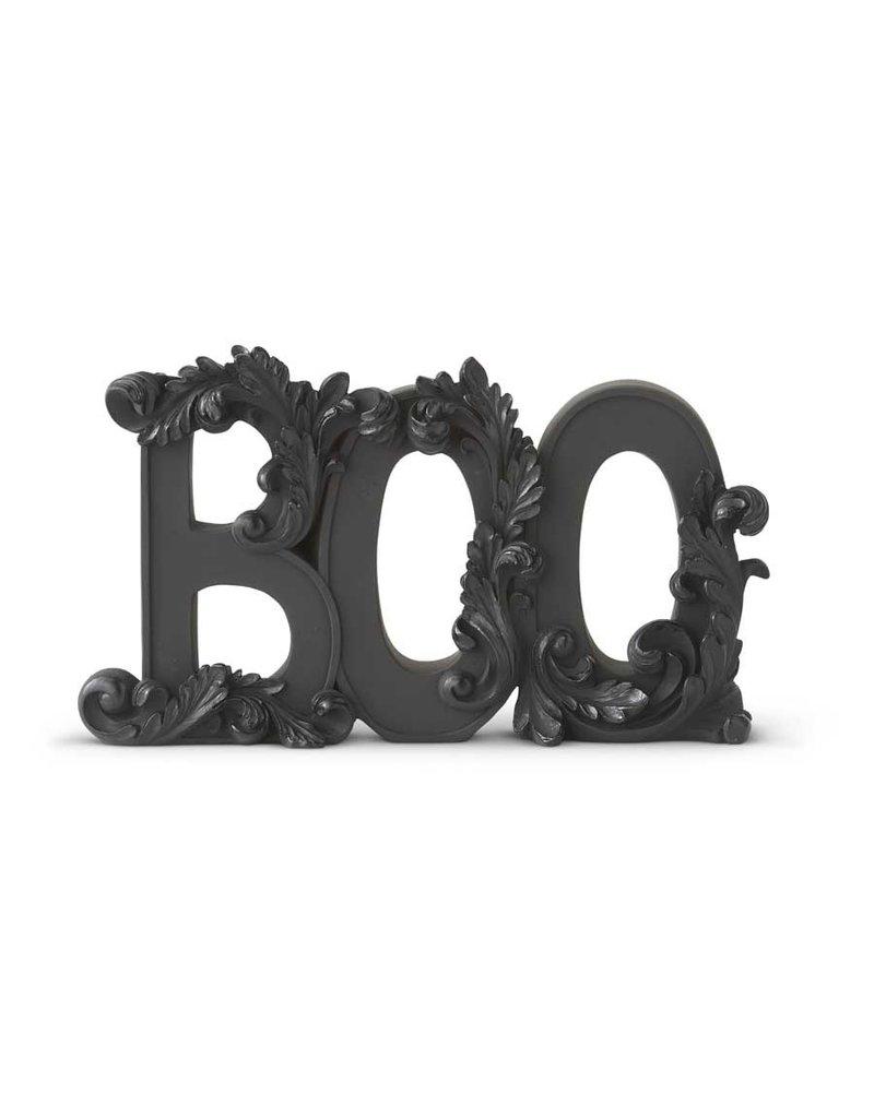 9.75 inch matte black resin BOO Tabletop