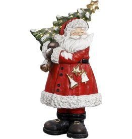 "Santa carrying Xmas Tree 33"" Mark Roberts"