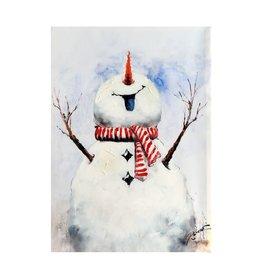 """Joyous Snowman Oil Painting 19.5""""x27.5"""""""