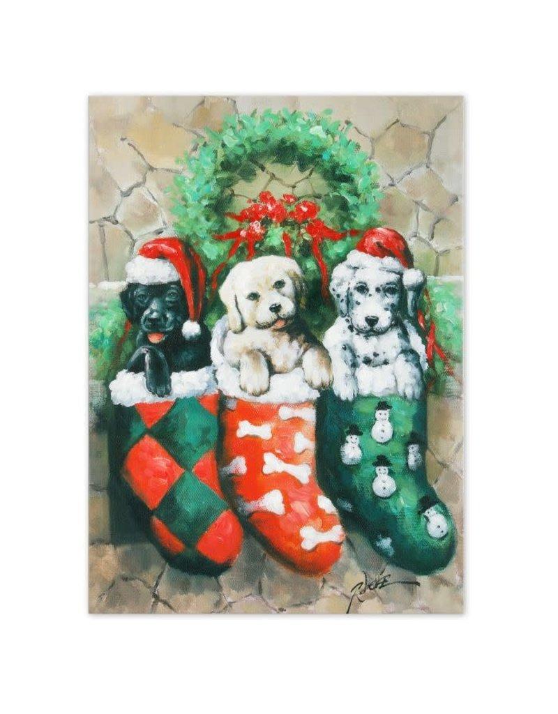 "Puppies Oil on Canvas 20"" x 27"""