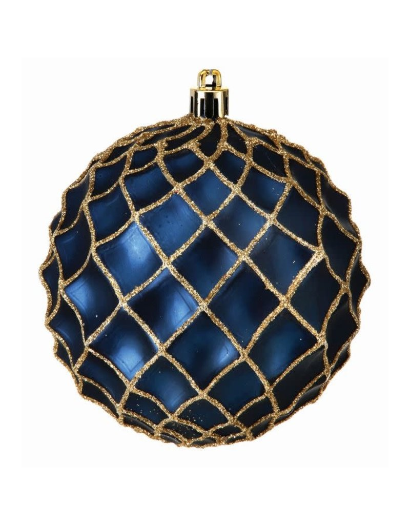 100mm Glitter Net Orn (box of 4)