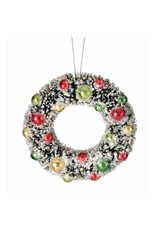 """5"""" Frosted Bristle Wreath Orn"""