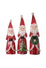 """8.5"""" - 10"""" Wood Carved Santa"""