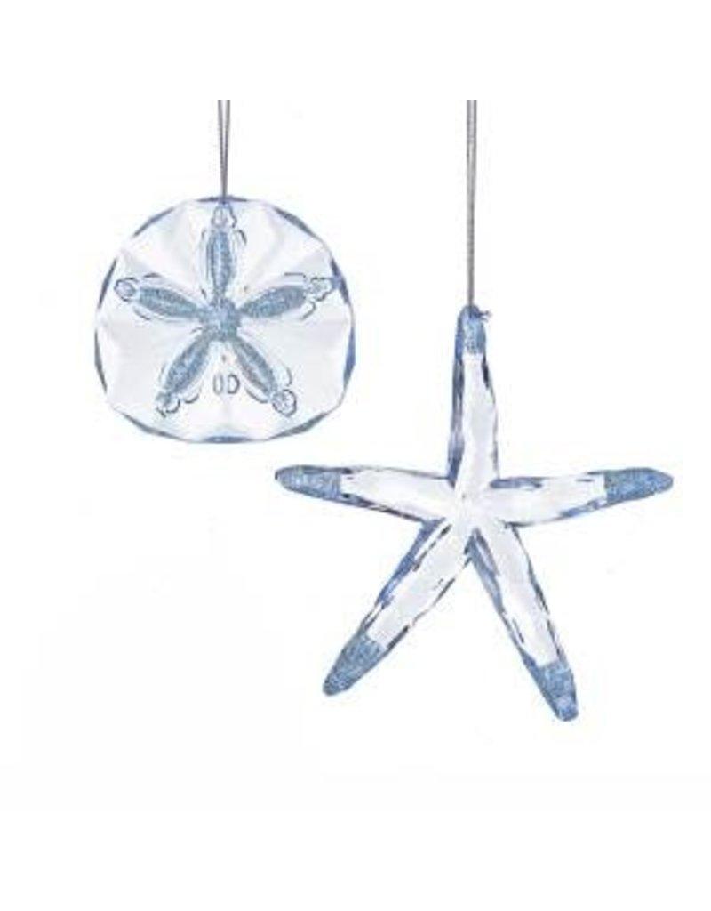 "3.2"" Acrylic lt blue Starfish/Shell (2 asstd)"