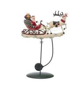 "12"" Santa Sled Deer Pendulum"