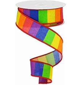 Rainbow Horizontal Stripe Pride Ribbon 10yrd