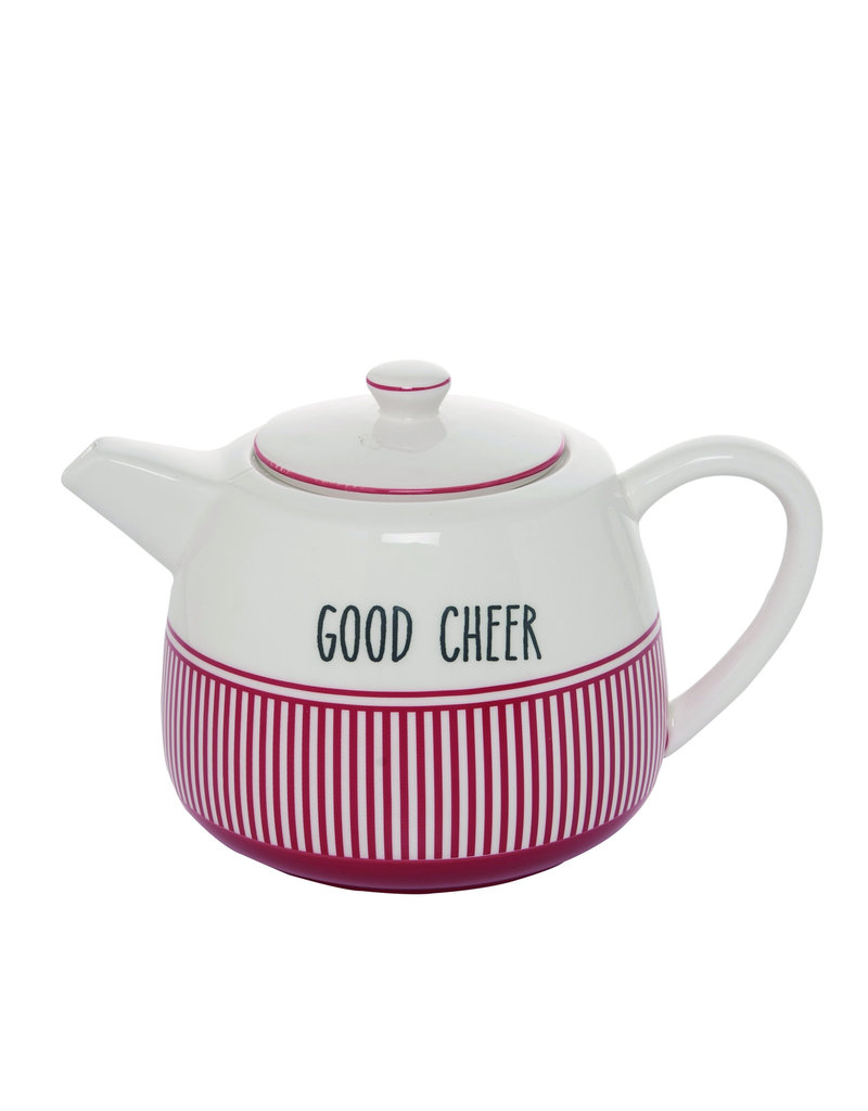 Snow Stripes Teapot