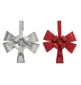 Metal Bow Wreath Holder (2 Asstd)