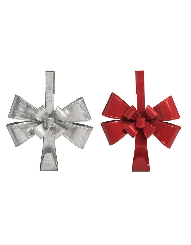 Metal Bow Wreath Holder (2 Asstd)