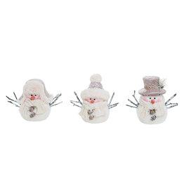 Foam/Fabric Snowman Fig (3 Asstd)