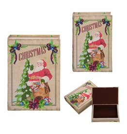 Santa Book Box Decor (large)