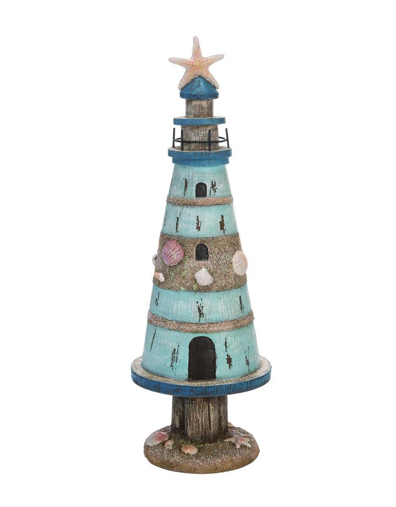 Resin Coastal Light House Tree