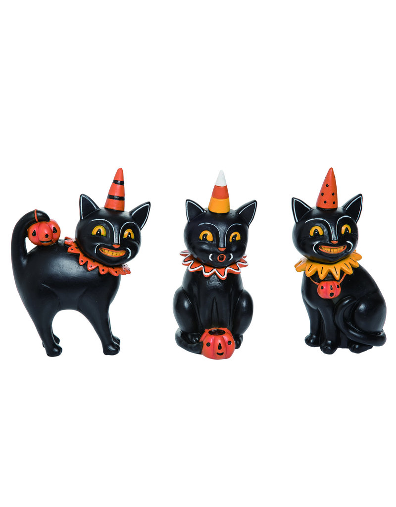Resin Black Cat Jack Collector Trio