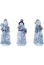 Resin Glitter Snowman Figure (3 Asstd)