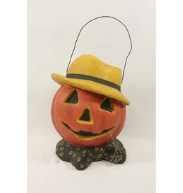 PUMPKIN SCARECROW CANDY BUCKET