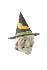 WITCH CANDY BUCKET-LARGE GREEN