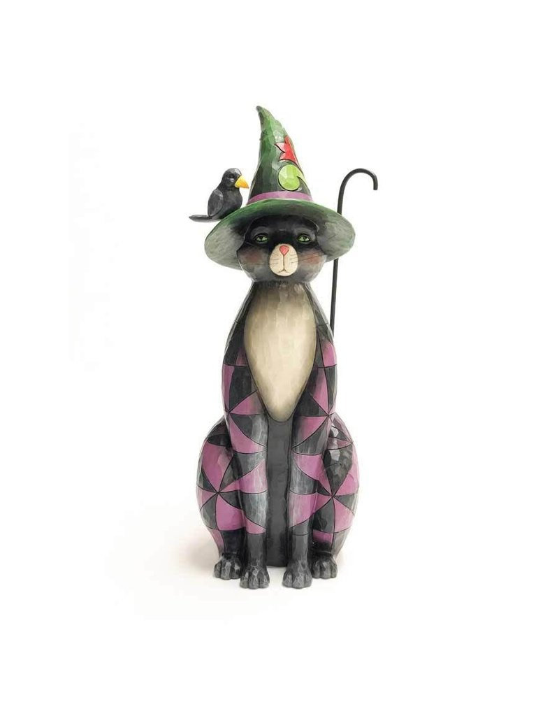 Jim Shore - Black Cat Witch Statue