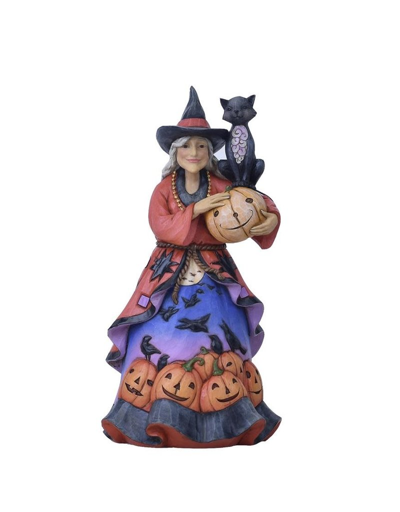 Jim Shore - Friendly Witch With Black Cat