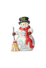 Snowman w/ Broom & Scarf Jim Shore