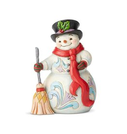 Snowman w/ Broom & Scarf Jim Shore